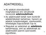adatmodell