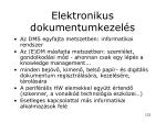elektronikus dokumentumkezel s