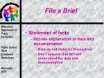 file a brief