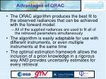 advantages of orac