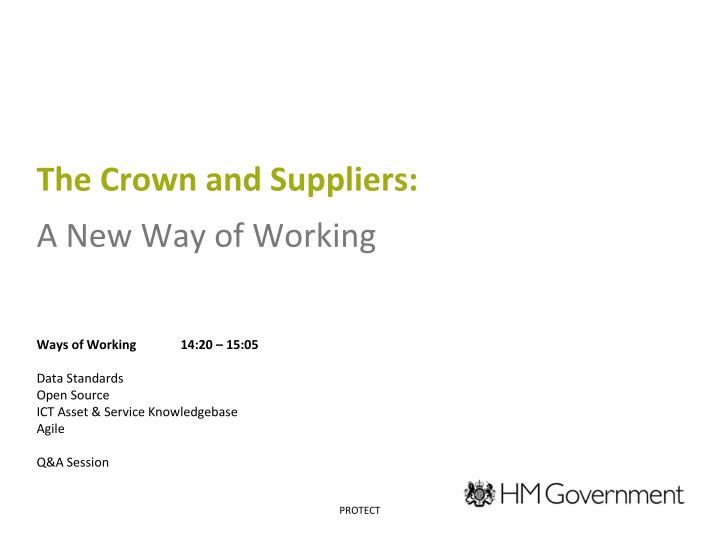 the crown and suppliers a new way of working n.