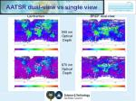 aatsr dual view vs single view