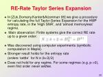 re rate taylor series expansion1
