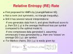 relative entropy re rate1