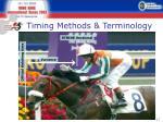 timing methods terminology3
