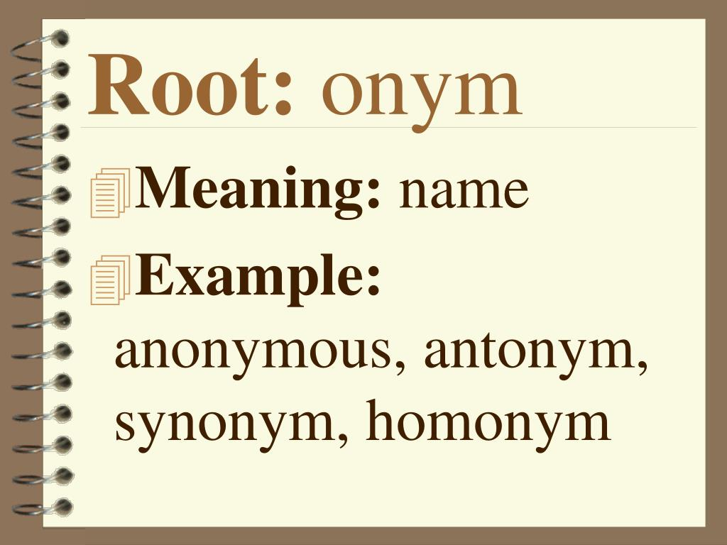 PPT - Root Words PowerPoint Presentation - ID:4535624