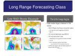 long range forecasting class6