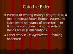 cato the elder