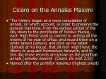 cicero on the annales maximi