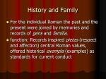 history and family