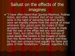 sallust on the effects of the imagines