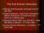 the first roman historians