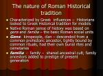 the nature of roman historical tradition