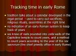 tracking time in early rome