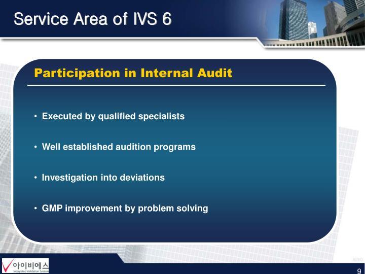 Service Area of IVS 6