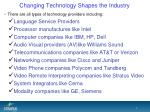 changing technology shapes the industry