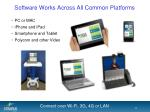 software works across all common platforms