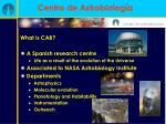centro de astrobiolog a