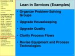 lean in services examples