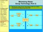 minimizing waste group technology part 2