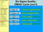 six sigma quality dmaic cycle con t