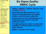six sigma quality dmaic cycle