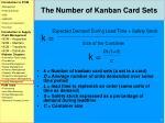 the number of kanban card sets