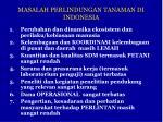 masalah perlindungan tanaman di indonesia