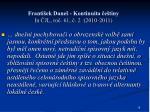 franti ek dane kontinuita e tiny in jl ro 61 2 2010 2011