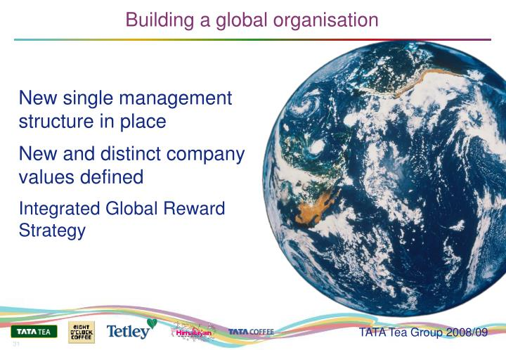 Building a global organisation