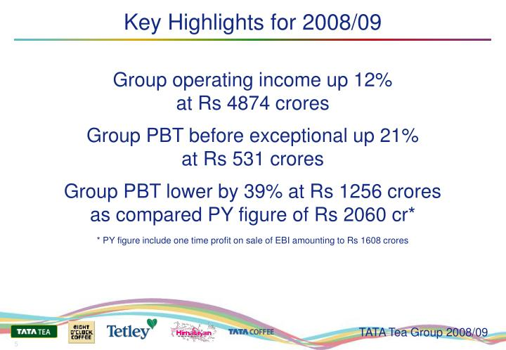 Key Highlights for 2008/09