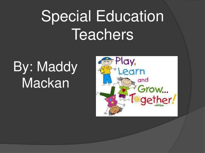 special education teachers n.