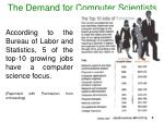 the demand for computer scientists3