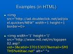 examples in html