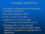 language regularities