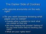 the darker side of cookies