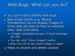 web bugs what can you do