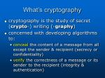 what s cryptography