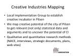 creative industries mapping