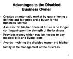 advantages to the disabled business owner