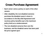 cross purchase agreement
