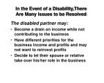 in the event of a disability there are many issues to be resolved