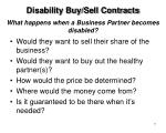 what happens when a business partner becomes disabled