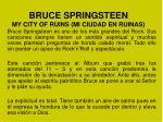 bruce springsteen my city of ruins mi ciudad en ruinas