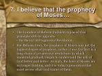 7 i believe that the prophecy of moses2
