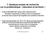 7 quelques projets de recherche sur la probl matique ducation et territoire