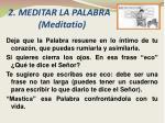 2 meditar la palabra meditatio
