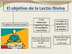 el objetivo de la lectio divina
