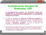 confederaci n europea de sindicatos ces