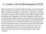 a condivi vita di michelangelo 1553